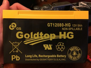 Goldtop HG GT12080-HG Battery